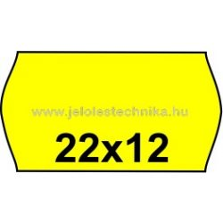 22x12mm CITROM színű árazószalag