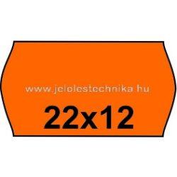 22x12mm NARANCSSÁRGA színű árazószalag