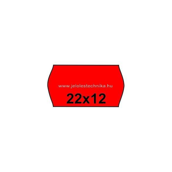 22x12mm PIROS színű árazószalag