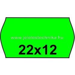 22x12mm ZÖLD színű árazószalag
