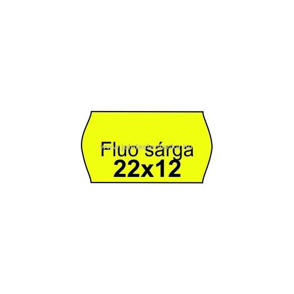 22x12mm FLUO CITROMSÁRGA színű árazószalag