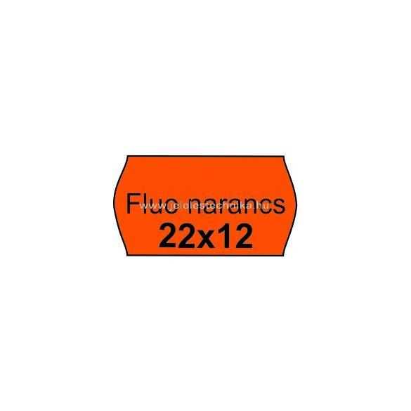 22x12mm FLUO NARANCSSÁRGA színű árazószalag
