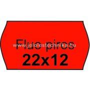 22x12mm FLUO PIROS színű árazószalag