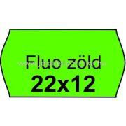 22x12mm FLUO ZÖLD színű árazószalag