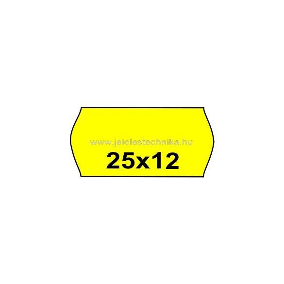 25x12mm CITROMSÁRGA színű árazószalag