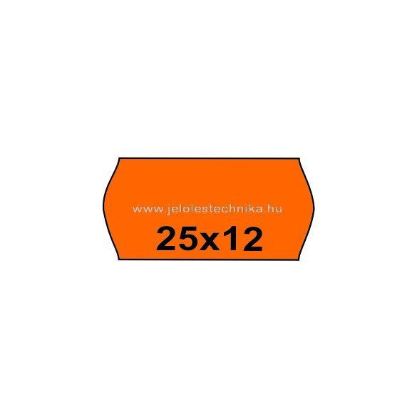 25x12mm NARANCSSÁRGA színű árazószalag