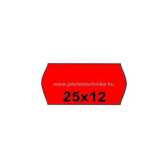 25x12mm PIROS színű árazószalag