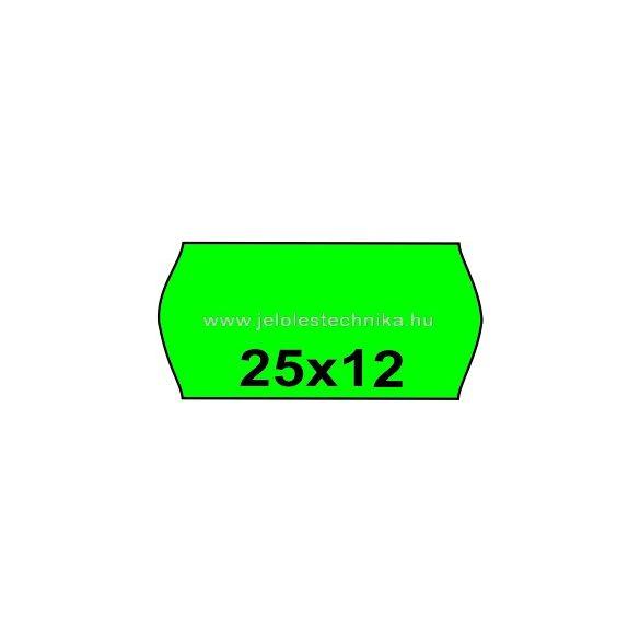 25x12mm ZÖLD színű árazószalag