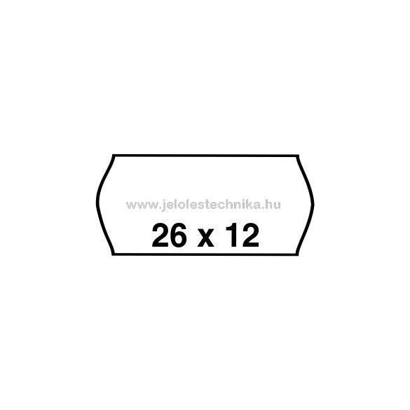 26x12mm FEHÉR árazószalag