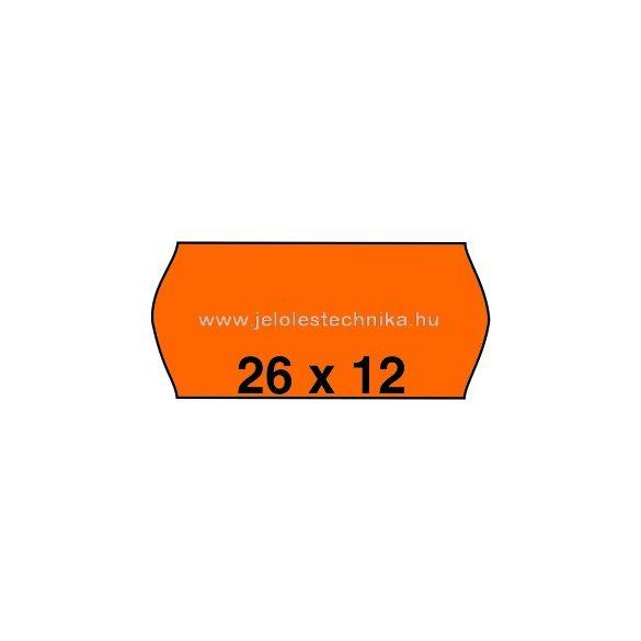 26x12mm NARANCSSÁRGA színű árazószalag