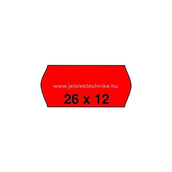 26x12mm PIROS színű árazószalag