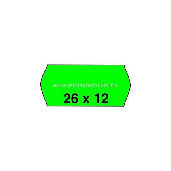26x12mm ZÖLD színű árazószalag