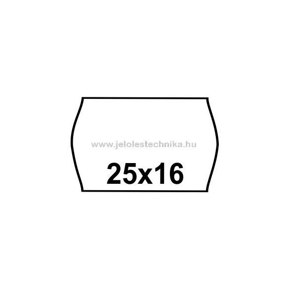 25x16mm FEHÉR árazószalag