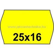 25x16mm CITROMSÁRGA színű árazószalag