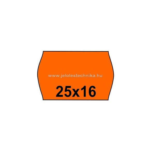 25x16mm NARANCSSÁRGA színű árazószalag