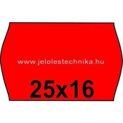 25x16mm PIROS színű árazószalag