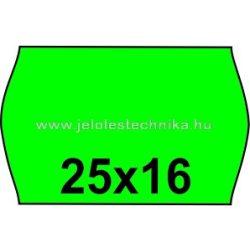 25x16mm ZÖLD színű árazószalag