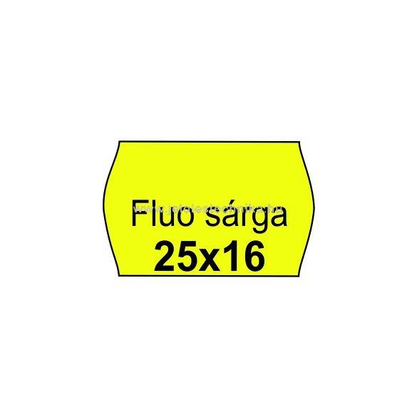 25x16mm FLUO citromsárga színű  árazószalag