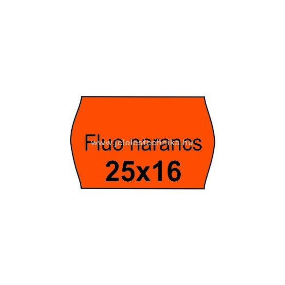 25x16mm FLUO narancssárga színű árazószalag