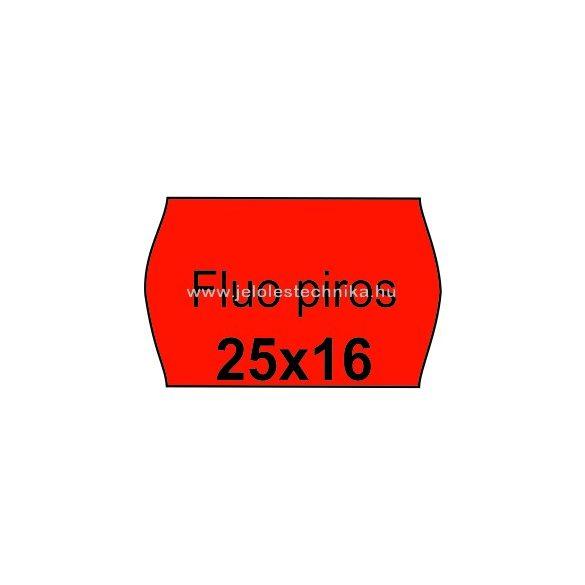 25x16mm FLUO piros színű árazószalag