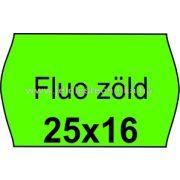 25x16mm FLUO zöld színű árazószalag