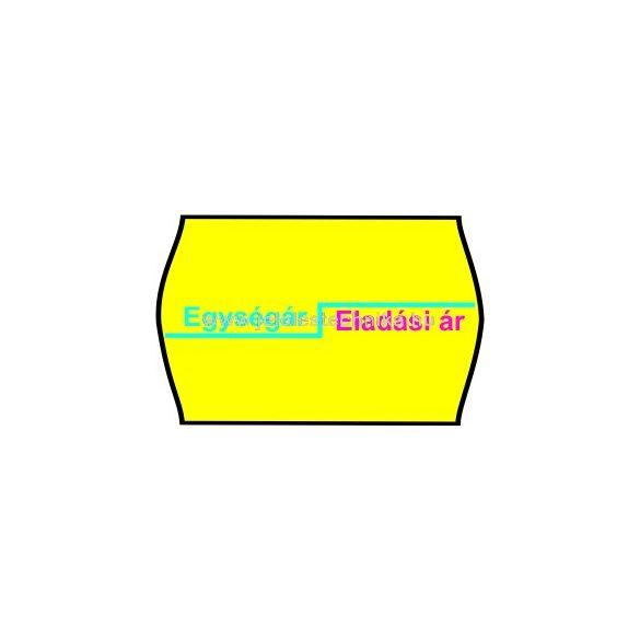 25x16mm citrom alapon EÁ/EÁ feliratos árazószalag