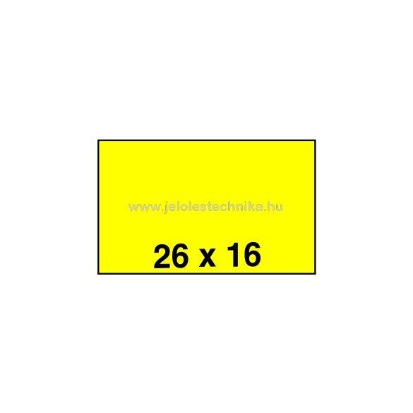 26x16mm CITROMSÁRGA színű árazószalag