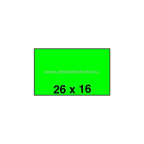 26x16mm ZÖLD színű árazószalag