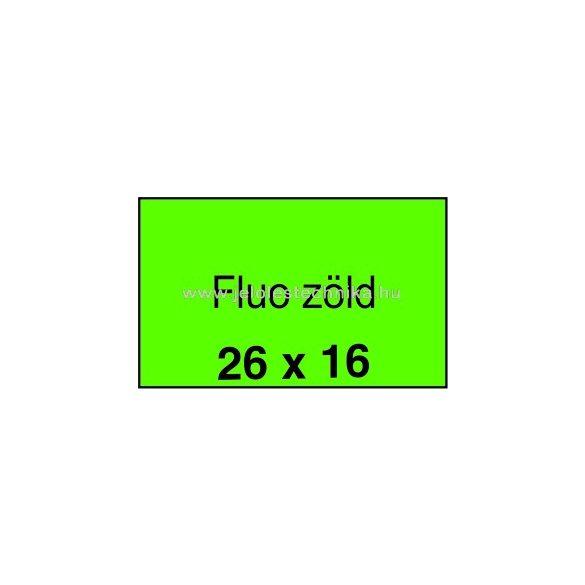 26x16mm FLUO zöld színű árazószalag