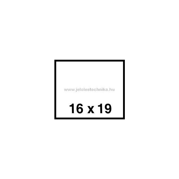 16x19mm FEHÉR árazószalag
