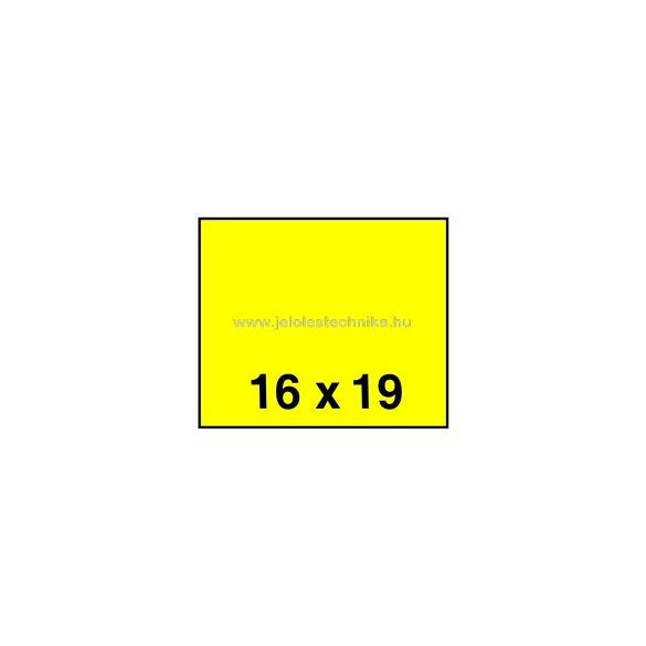 16x19mm CITROMSÁRGA színű árazószalag