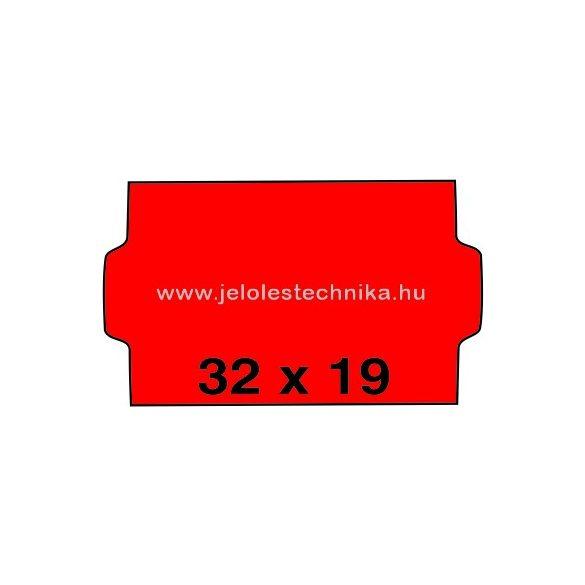 32x19mm PIROS színű árazószalag