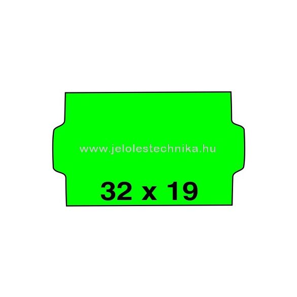 32x19mm ZÖLD színű árazószalag