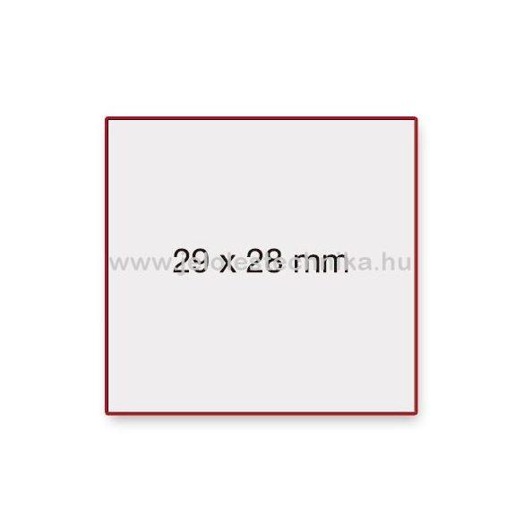 29x28mm FEHÉR METO árazószalag
