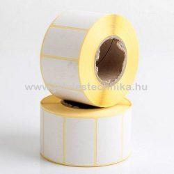 25x50mm THERMO öntapadós címke , 2000db/tekercs