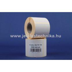 40x70mm THERMO öntapadós címke, 1000db/tekercs