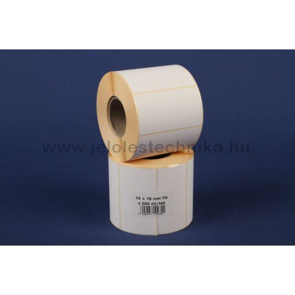 43x78mm THERMO öntapadós címke, 1000db/tekercs