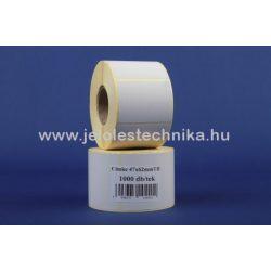 47x62mm THERMO öntapadós címke, 1000db/tekercs