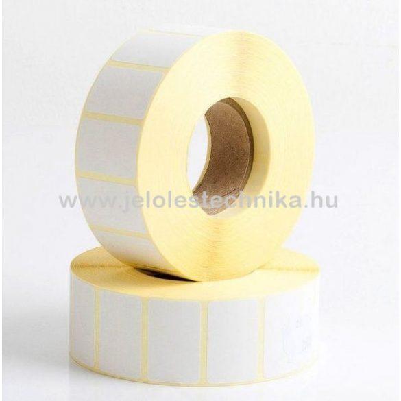 15x25mm THERMO öntapadós címke, 1000db/tekercs