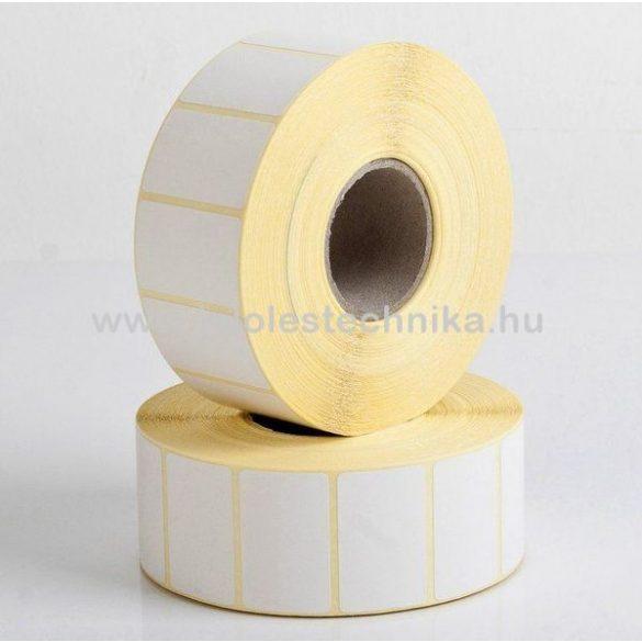 20x32mm THERMO öntapadós címke, 2500db/tekercs