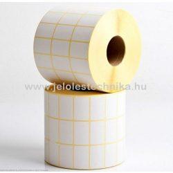 20x32mm THERMO 3 PÁLYÁS öntapadós címke, 3x3000=9000db/tekercs