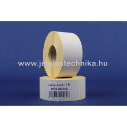 62x47mm thermo öntapadós METTLER MÉRLEGCÍMKE, 1000db/tekercs