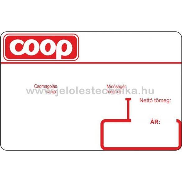 38x58mm COOP logós BIZERBA mérlegcímke, 1000db/tekercs
