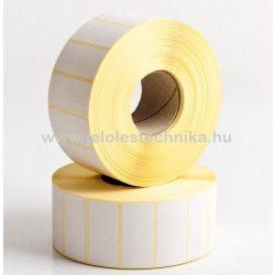 15x50mm VELLUM (matt papír) öntapadós címke, 4000db/tekercs