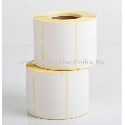 40x70mm VELLUM (matt papír) öntapadós címke, 1000db/tekercs