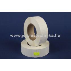 20x40mm PetMattWhite (műanyag) öntapadós címke, 3500db/tekercs