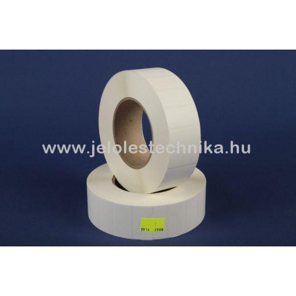 15x15mm PetMattWhite (műanyag) öntapadós címke, 5000db/tekercs