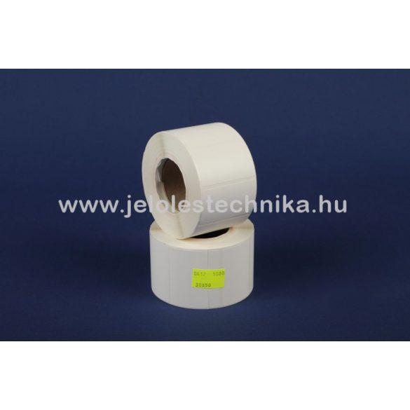 30x50mm PettMattWhite (műanyag) öntapadós címke, 1000db/tekercs