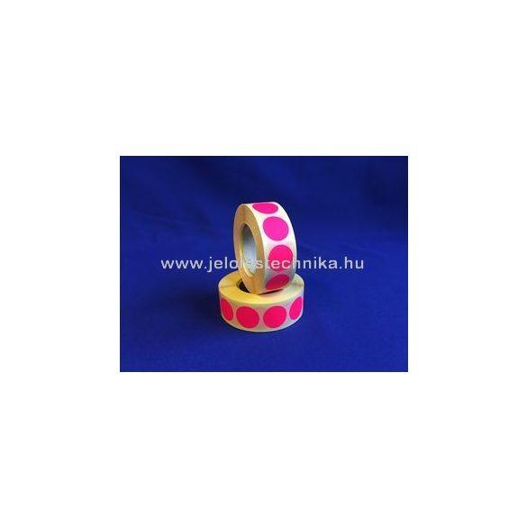 38mm FLUO pink körcímke, 1000db/tekercs