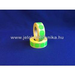 20mm FLUO zöld körcímke, 1000db/tekercs